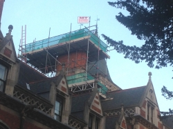 Scaffolding for Chimney Repair at Cambridge University